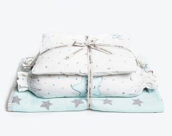 Sleepy Star-Baby Bedding Crib Set, Crib Bedding, New Baby Crib Set, Baby Gift, Baby Boy Bedding Set, Baby Bedding, Baby Boy Crib Bedding