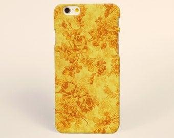 iPhone 7 Plus Case Golden Yellow Floral Flowers, iPhone 7 Case iPhone 6s Case iPhone 6 plus case iPhone 6 case iPhone tough Case