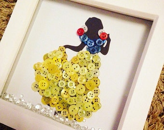 Snow White button frame