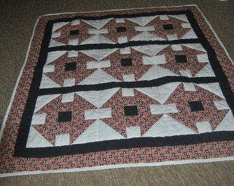 Pieced - Quilted lap throw/wall hanging