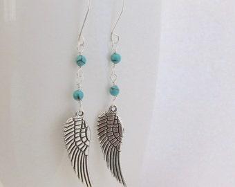 Turquoise Earrings Boho earrings December Birthstone Earrings  gemstone earrings  gift women gift for mom  gift for her fall gift