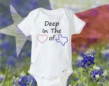 Texas Baby Onesie®/ Cowboy Theme Baby Onesie®/ Baby Outfit/Deep in the Heart of Texas