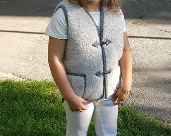 kids clothing; child wear; kids vest; woolen vest; handmade vest; kids gift; organic wear;