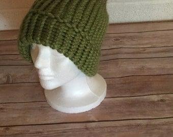 Two Tones Green Winter Hat