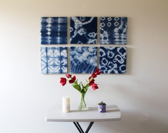 Hand Dyed Shibori Wall Hangings