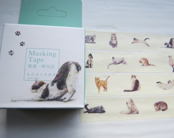 Lovely Cats Washi Tape / Cats Decorating Tape, Cat Washi Tape