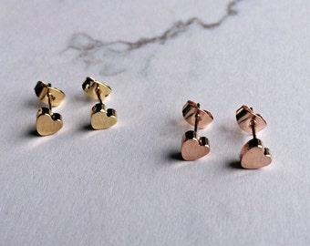 Earrings heart gold, earrings gold, love, gift