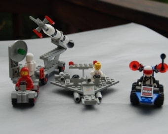 Vintage LEGO Classic Space Shuttle, Rocket Launcher, and Space Police Patrol