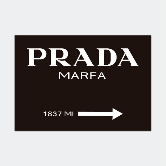 prada marfa zeichen drucken poster mode skandinavische. Black Bedroom Furniture Sets. Home Design Ideas