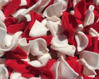 Red and white snuffle mat