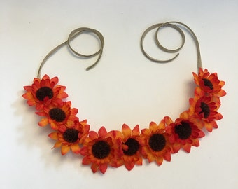 Orange Sunflower Crown