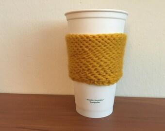 Coffee Cozy - Mustard Yellow