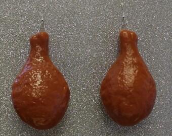Chicken Drumstick Earrings