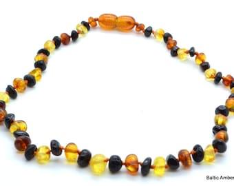 Children Natural Baltic Amber Necklace, 33 cm, 5 grams