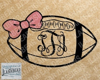 Football With Bow Monogram