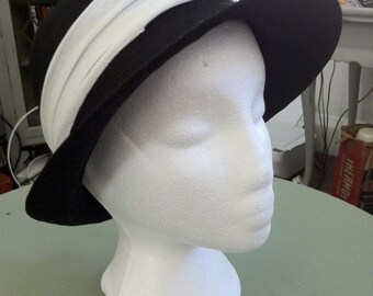 Fedora Style Black & White Hat
