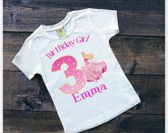 Barbie Princess Birthday T Shirt Or Bodysuit; Tee shirt size 2T and Up; Free Personalizatio
