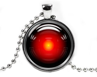 Hal 9000 Necklace Pendant 2001 Space Odyssey Geeky Fangirl Fanboy