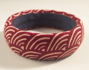 ethnic Japanese fabric bangle bracelet