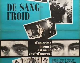 "IN COLD BLOOD 1967 original french movie poster ""Affiche"" (Insert) 23x31 Truman Capote"