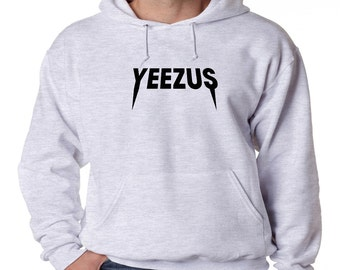 Yeezus Logo Hoodie Kanye West Hip Hop Classic Yeezy New Sweatshirt Uni-Sex Adult Pullover Hooded Chicago Rapper K. West Yeezys Tour