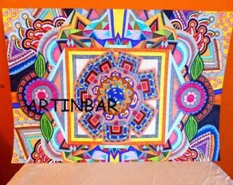 mandala, painting,drawing, markers