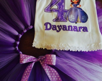 Custom made tutu with matching shirt and headband ( Any character & color)