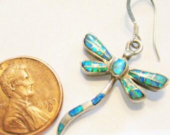 dragonflyoal silver earrings