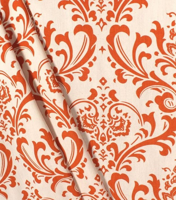 Burnt Orange Curtains Floral Window Treatments Custom Drapes