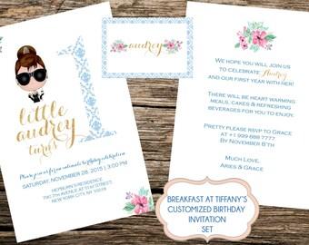 Breakfast at Tiffany's Birthday Invitation Set