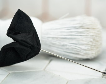 Jet Black Butterfly Lapel Pins. Mens Bat Stick Pins. Wedding Accessories for Men. Dapper Accessories.