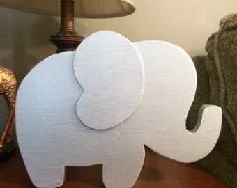 Wood Elephant Decor