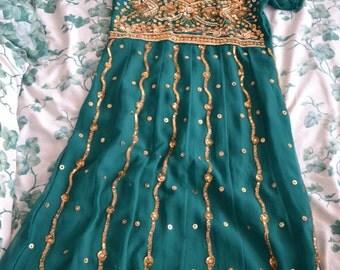 New Green Anarkali