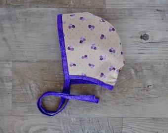 Reversible Bonnet / Brimless Bonnet / Cotton Bonnet / Baby Bonnet / Sun Hat / Modern Bonnet / Newborn Gift / Baby Girl Bonnet / Baby Hat