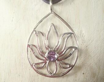 Lotus Flower, Blooming Lotus, Silver Lotus Pendant, flower necklace, Lotus necklace, Lotus Flower necklace, Lotus Flower Jewelry