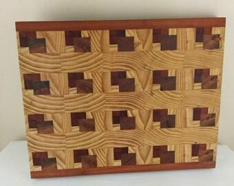End grain 3D chopping boards