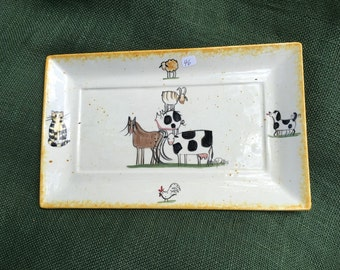 Molly Dallas Stacked Animal Serving Platter - Molly's Cows