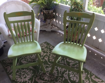 Chair, Vintage, Chalk Painted