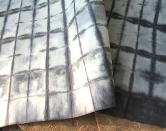 Black & White Itajime Folded Dyed Squares Paper Large Sheet 25x37 inches Kozo (1 sheet)