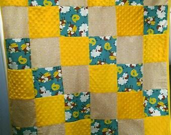 Chick minkie baby blanket