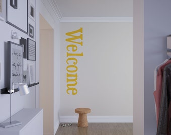 Welcome Customizable Wall or Door Decal