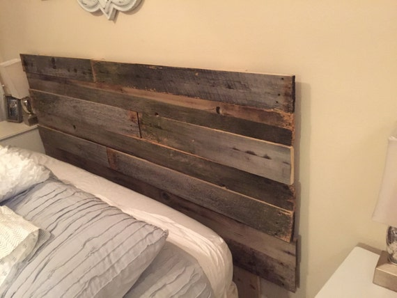 Reclaimed Wood Headboard King Bed By Palletbykaylee On Etsy