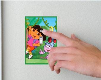 Dora the Explorer- Light switch Cover- Dora the Explorer- Switch Plate Cover-Wall plate cover