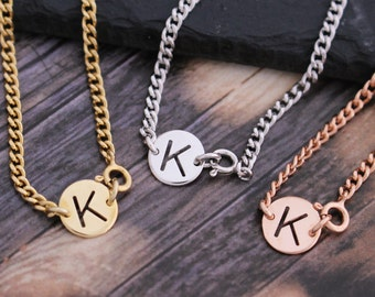 Personalized Initial Cut-out Medal Bracelet