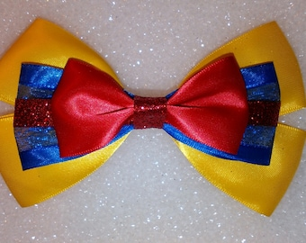 Princess Snow White hair bow
