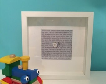Hey Diddle, diddle, nursery rhyme framed print.