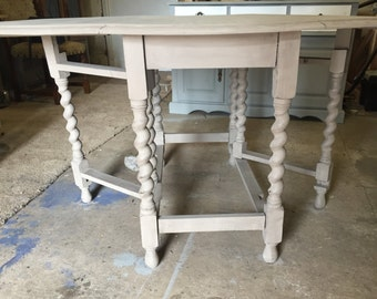 Chalk Painted and Upcycled Dining Table
