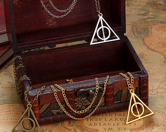 Harry Potter Deathly Hallows Pendant Necklace - 3 Colors to Choose From