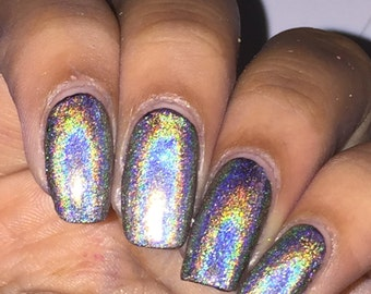 "Silver Holo Nail Polish ""Tiara Diamonds"""