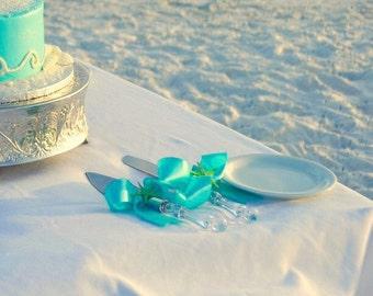 Rustic glam beach wedding serving pieces, beach wedding serving pieces, simple beach wedding serving pieces
